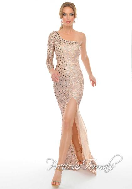 Precious Formals Dress P8909 at Peaches Boutique