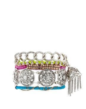 ASOS | ASOS Indian Tassel Bracelet Pack at ASOS