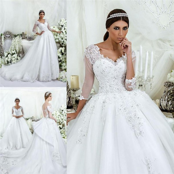 Dress luxury wedding dresses a line wedding dressses for Wedding dresses in dubai prices