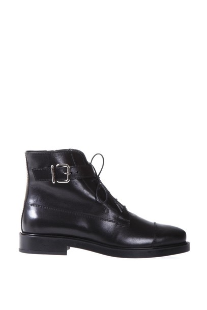 Tods metal leather boots leather black shoes