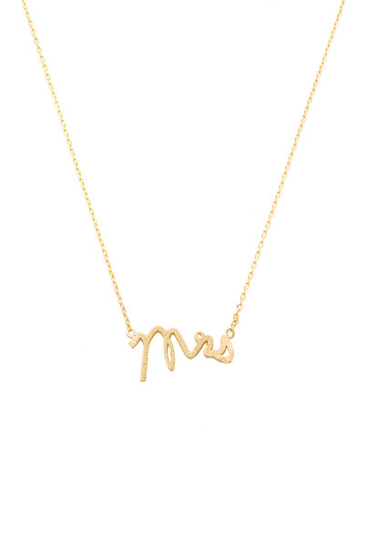 WANDERLUST + CO necklace metallic gold