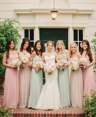 dress bridesmaid long bridesmaid dress pastel bridesmaid dress wedding