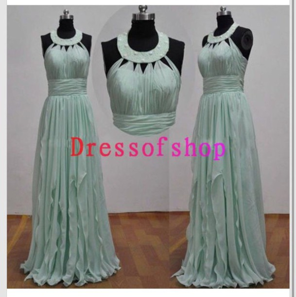 dress blue dress greek style light blue prom dress long dress