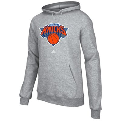 adidas New York Knicks Full Primary Logo Hoodie - Ash - NBA Store
