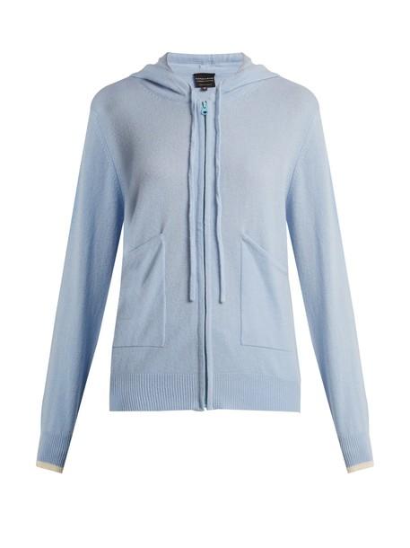 PEPPER & MAYNE sweater zip light blue light blue