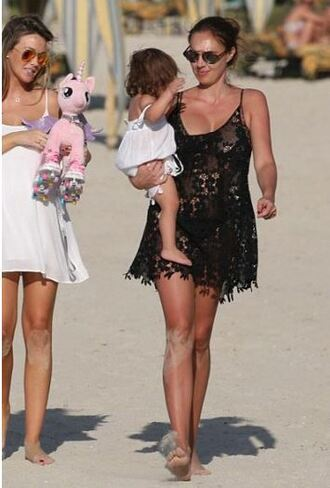 dress lace dress summer dress beach tamara ecclestone cover up bikini