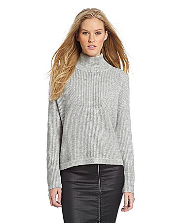 French connection honeycomb turtleneck sweater