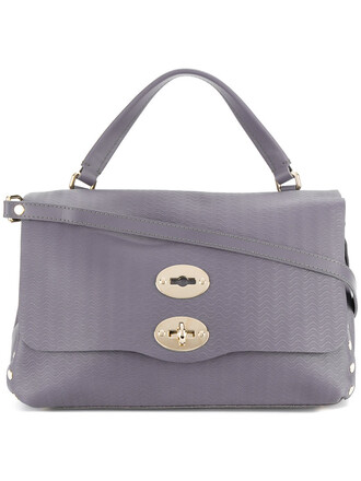 studded women leather purple pink bag