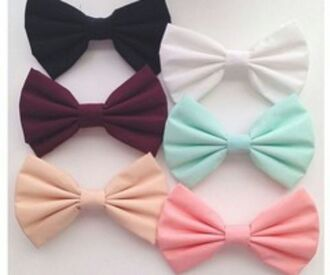 jewels bows hair accessory black bow pink bow white bow red bow blue bow mint pastel bows mint green bow