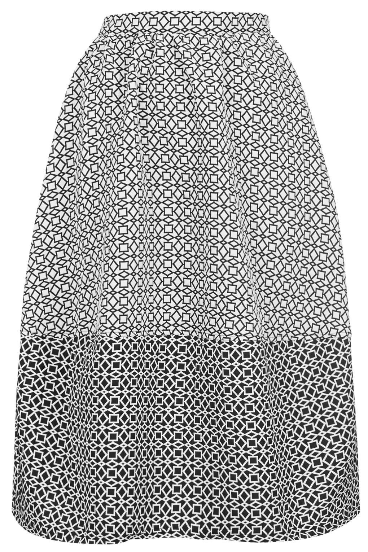 Aztec Mono Lantern Skirt - Skirts - Clothing