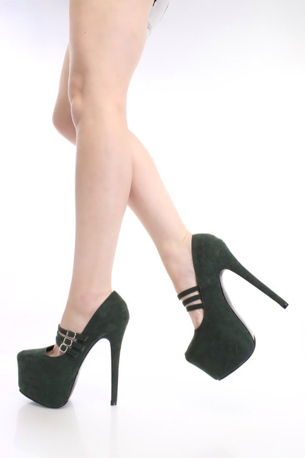shoes olive green heels strappy