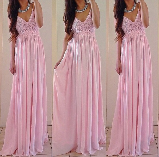 bcaa699237 pink dress light pink pink princess dress yes. dress maxi dress formal dress  girly long