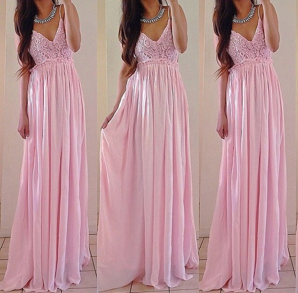 pink dress light pink pink princess dress yes. dress maxi dress formal dress girly long dress pink party princess wedding dresses wedding dress maxi lace flowy summer trendy cute feminine spring rose wholesale-jan