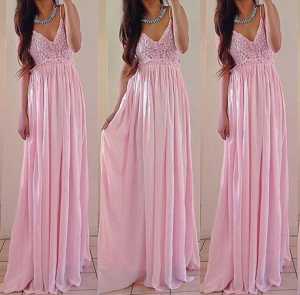 pink dress light pink pink princess dress yes. dress maxi dress formal dress girly long dress pink party princess wedding dresses wedding dress maxi lace flowy summer trendy cute feminine spring rose wholesale-jan