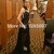 Aliexpress.com : Buy 2014 High Neck Black Lace Silvery Beaded Sequins Nude Lining Fashion Prom Dress 2014 Sexy Maxi Long Dress from Reliable dress up dress suppliers on SFBridal