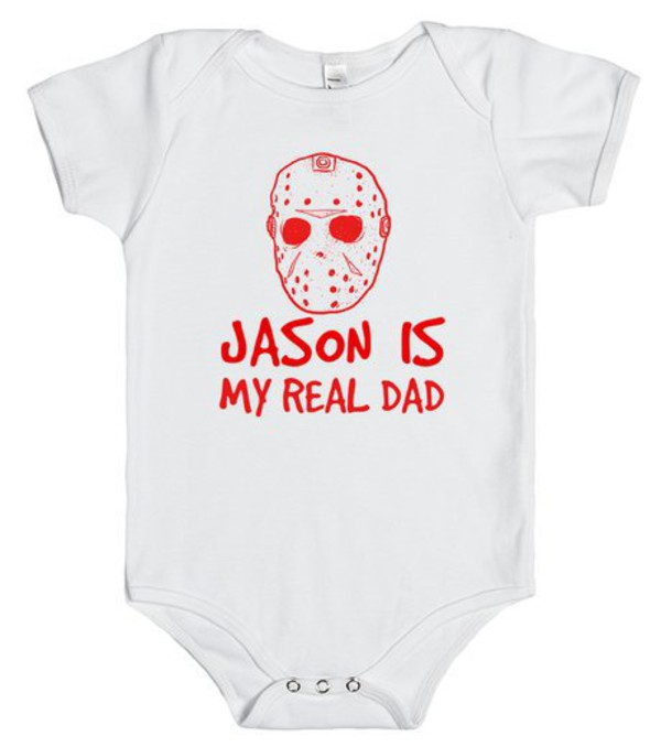 t-shirt jason horror movie scary scary movie scary costume baby infant funny real dad funny shirt october friday the 13th