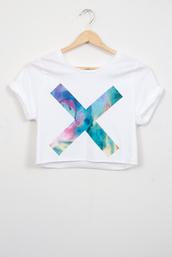 shirt,cross,liquid,t-shirt,top,crop tops,crop,cropped tee,fine,jersey,liquidated,sleeves,soft,turn up,cut offs,cut-off,cut off shirt,the xx,jumpsuit