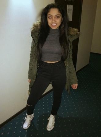 jeans black jeans green jacket