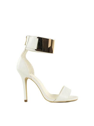 Cuff Sandal - Nly Shoes - Guld/Vit - Festskor - Skor - Kvinna - Nelly.com