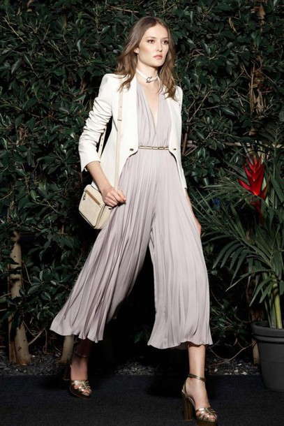 3750b8a4e2e jumpsuit wide leg jumpsuit white shoulder bag cropped jumpsuit grey jumpsuit  palazzo jumpsuit sandals sandal heels