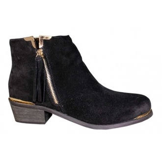 shoes ankle boots leather boots gold