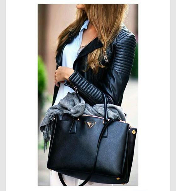 jacket leather jacket bag