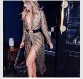 dress classy gold sequins gold dress sequin dress sexy dress party dress