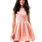 Lady's tender pastel colors bell dress