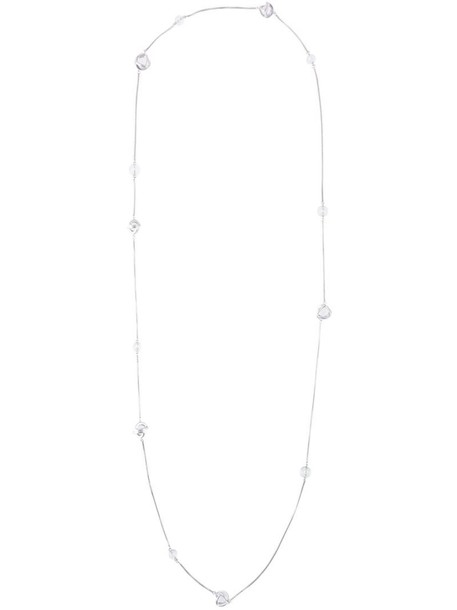 Lara Bohinc women necklace silver grey metallic jewels