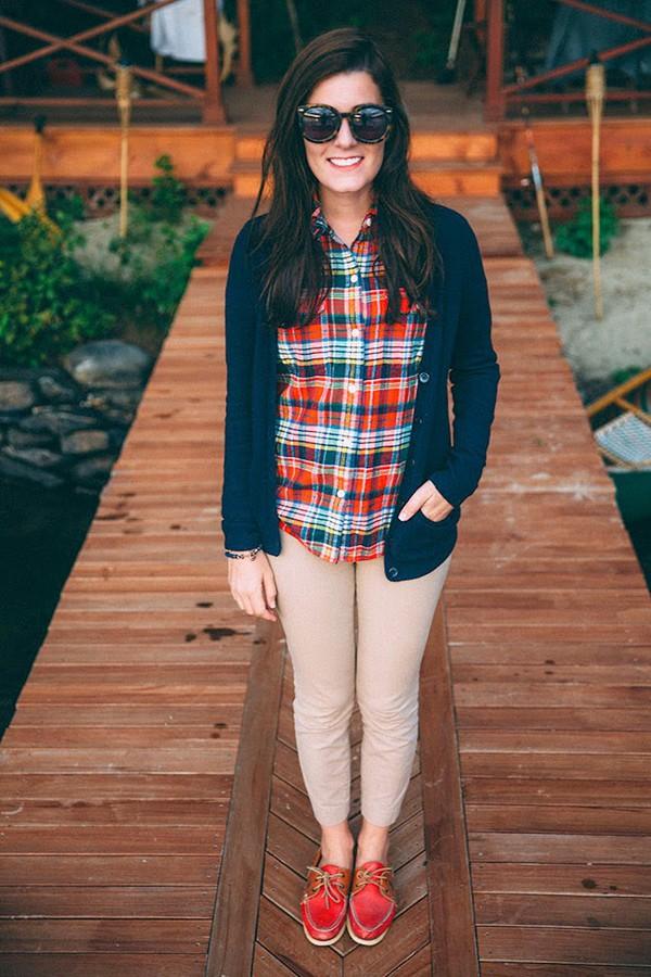 classy girls wear pearls blogger cardigan flannel