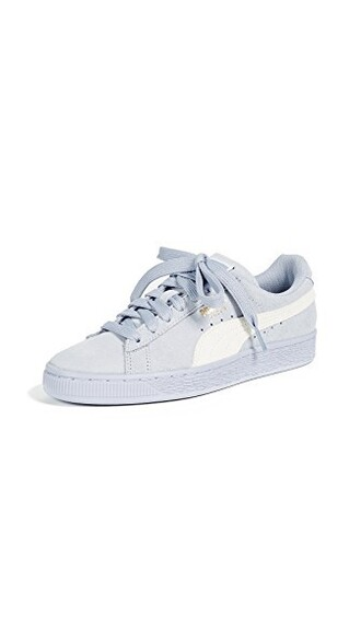 classic sneakers suede white blue shoes