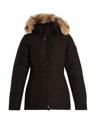 jacket down jacket fur black