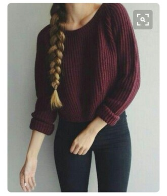 sweater red dark red red sweater fall outfits fall sweater winter outfits winter sweater tumblr warm sweater cozy cozy sweater comfy comfy sweater pattern