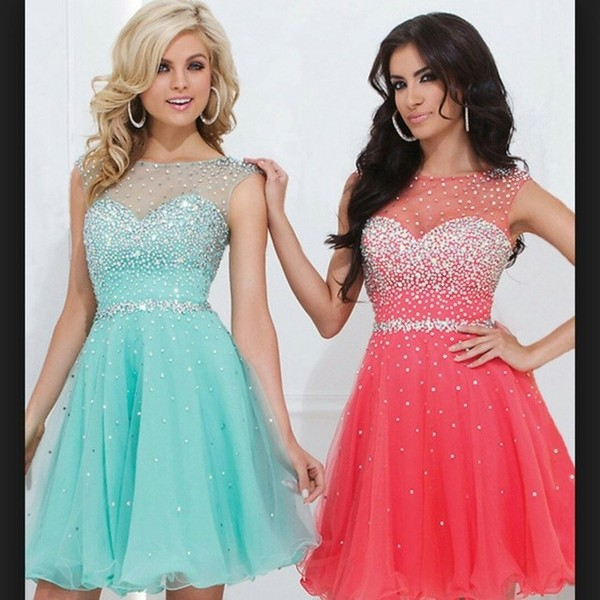 dress blue orange cute pretty these dress girl ootd girly funny necklace party homecoming dress teal sequin dress mint dress coral dress lace top teal dress pink teal pink dress sparkly dress sparkle short dress glitter dress glitter prom dress party dress