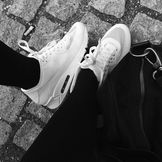 shoes air max white mesh