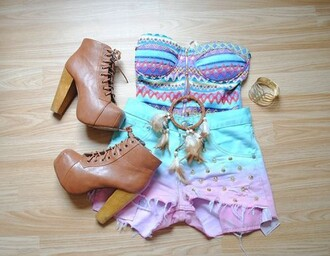 tank top clothes corset top pastel beautiful bra top bustier shorts shoes