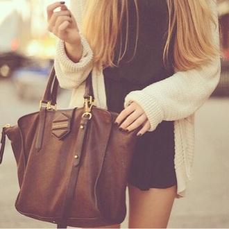 bag leather bag brown bag
