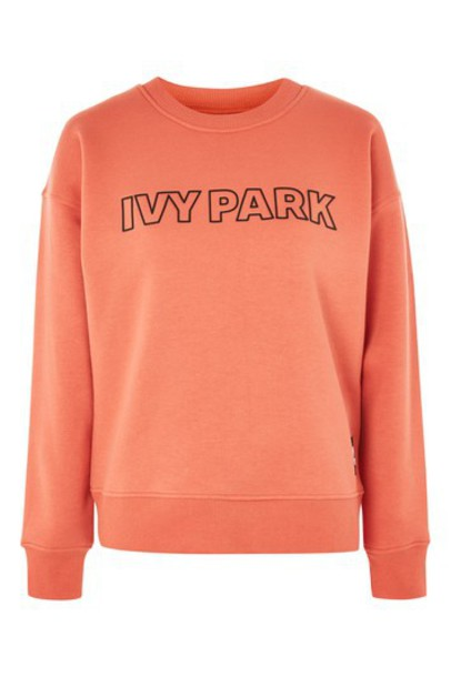 Topshop sweatshirt rust sweater