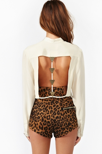 Arrow Silk Blouse In Clothes At Nasty Gal