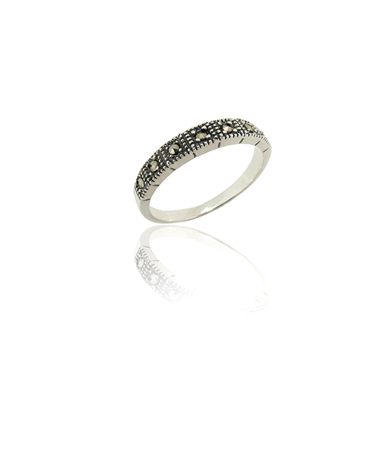Marcasite Row Ring | Silver Ring | Silver Jewellery | Stack Rings | BOHEM