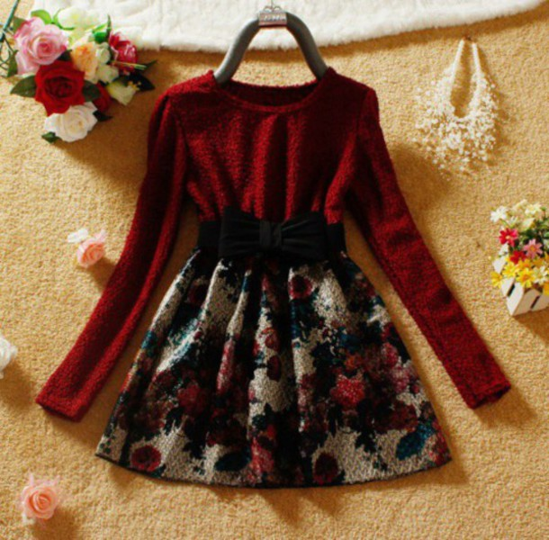 dress floral fashion style outfit