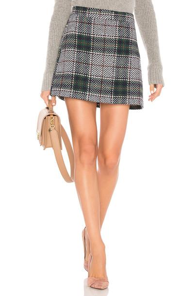 Endless Rose skirt mini skirt plaid mini skirt mini plaid green