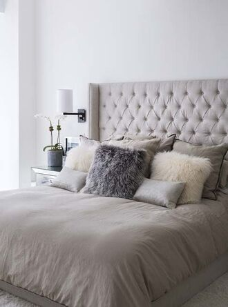 home accessory bedroom tumblr home decor furniture home furniture pillow grey bedding tumblr bedroom