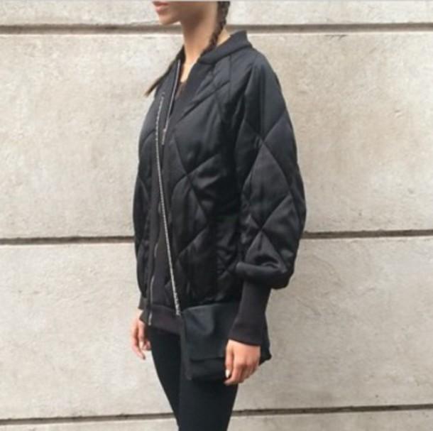 coat black blsckonblack bomber jacket jacket