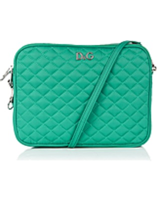 ASOS Fashion Finder | Green Lily Glam Nylon Quilted Clutch by D&G