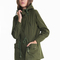 Army green hooded long sleeve pockets outerwear - sheinside.com
