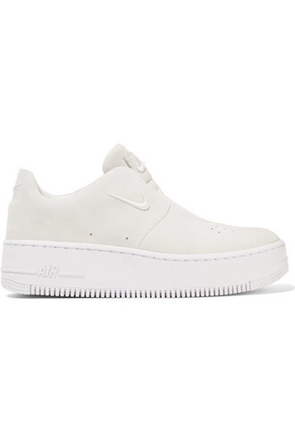 sneakers white suede off-white shoes