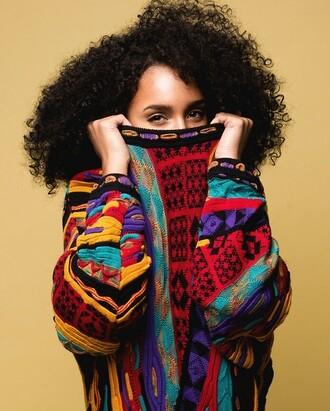 sweater multicolor coogi pattern