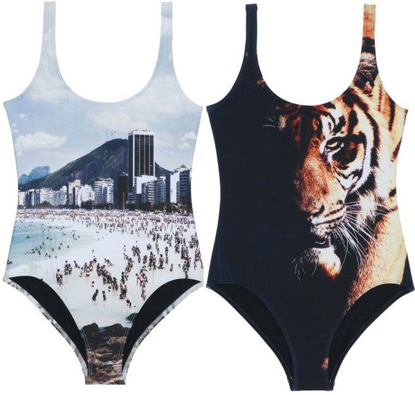 swimwear tiger bathing suit