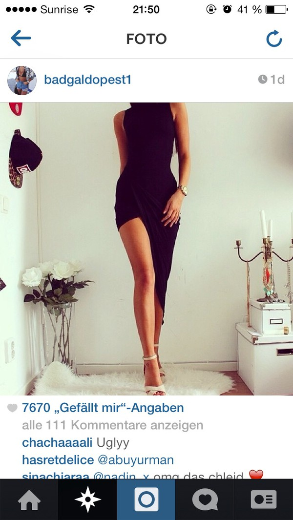 dress black long little black dress sexy dress